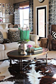 Dimples and Tangles: MY THOUGHTS ON COWHIDE RUGS