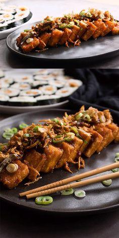 This is my vegan Teriyaki tofu recipe. A very easy Japanese recipe that is very comforting. This is my vegan Teriyaki tofu recipe. A very easy Japanese recipe that is very comforting. Vegan Japanese Food, Easy Japanese Recipes, Vegan Japanese Curry Recipe, Gluten Free Japanese Food, Japanese Pancake, Japanese Desserts, Vegan Recipes Videos, Easy Healthy Recipes, Firm Tofu Recipes