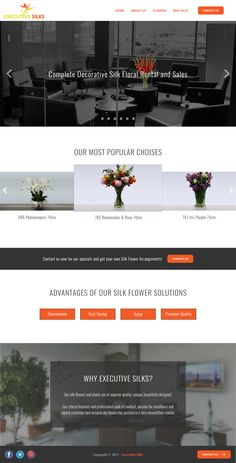Executive Silks - Website Redesign
