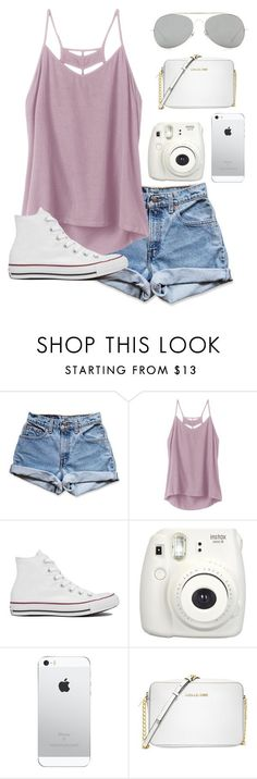 """last day with braces"" by moonhauntedmyocean ❤ liked on Polyvore featuring Levi's, RVCA, Converse, Michael Kors and Acne Studios"