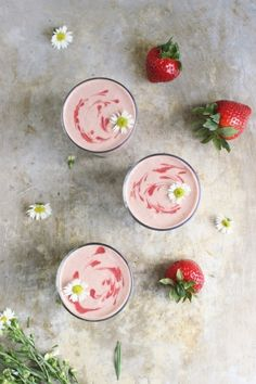 Strawberry Swirl Superfood Smoothie