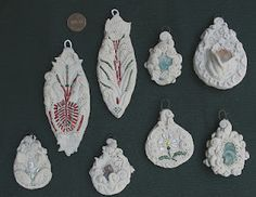 Polymer clay Christmas ornaments.