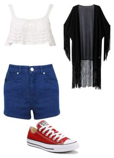 """Sin título #177"" by karolinortiz on Polyvore featuring Belleza, Miss Selfridge, Beauty & The Beach, Converse y WithChic"