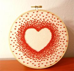 Embroidery Hoop Wall Art - Heart by Made By Magda (via Etsy)