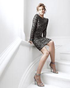 Rachel Zoe Adrienne Dress, sequined mesh