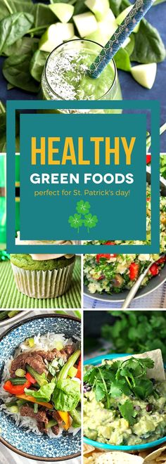 Healthy Green Foods for St. Best Breakfast, Healthy Breakfast Recipes, Brunch Recipes, Healthy Eating, Healthy Recipes, Meal Recipes, Vegetarian Recipes, Delicious Dinner Recipes, Yummy Food