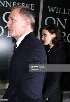 Daniel Craig & Rachel Weisz avoiding the press & photographers while attending the Broadway Opening Night Performance of 'Cat On A Hot Tin Roof' at the Richard Rodgers Theatre in New York City on. Get premium, high resolution news photos at Getty Images Daniel Craig Rachel Weisz, Richard Rodgers, Best Bond, Best Actor, A Good Man, Photographers, Menswear, Actors, Happy
