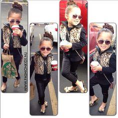 little fashionista.looks like my girl Little Kid Fashion, Little Girl Outfits, Cute Outfits For Kids, My Little Girl, Baby Girl Fashion, Toddler Fashion, Fashion Kids, Cute Kids, Baby Outfits