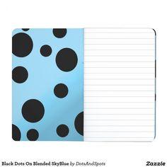 Black Dots On Blended SkyBlue Journal