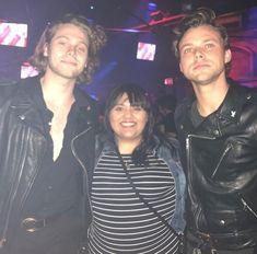 Luke and Ashton with isabelsworldv_v (Instagram) last night in LA 1/29/18