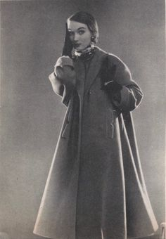 Evelyn Tripp In 1950s Tent Coat Pattern Simplicity 8217 Patterns