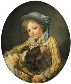 Boy with a Dog, Jean-Baptiste Greuze, c.1760. The Wallace Collection