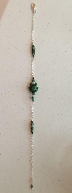 Cute Agate Turtle Ankle Bracelet