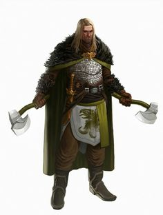 Human Barbarian Viking - Pathfinder PFRPG DND D&D d20 fantasy