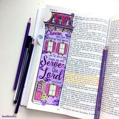Joshua 24:15 Bible Journaling Bible Verse Art Bible Verse Print by SewBitandCo