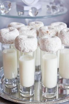 Mini Donuts With Milk Shooters