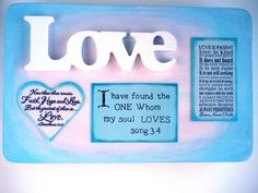 Love Verses Plaque. Love is Patient Love is by WordofGod on Etsy, $26.50