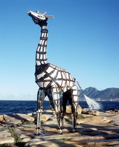 A giraffe puppet by the amazing Handspring Puppet Company.