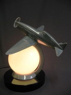 "Art Deco Period ""Flying Thunderbolt"" Lamp"