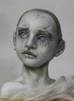 """WIP bust by Susie McMahon """"Imagined Poet: Silent Room"""""""