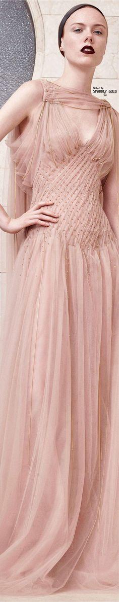 3d4d5a89992 Atelier Versace Fall 2017 Couture Versace Pink