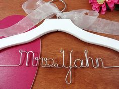 Custom Bridal Hangers Personalized Hangers by OriginalBridalHanger  $24.99  Click on photo to BUY NOW!  What a beautiful wedding dress hanger! A bride hanger have become an important accessory for your wedding day. They are wonderful dress photo props. #originalbridalhanger helps create memories from your special day!  Click here: originalbridalhanger.etsy.com to see more!