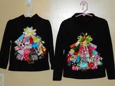 Christmas Tree Ribbon Shirt  Any children's size by suzieq301, $20.00