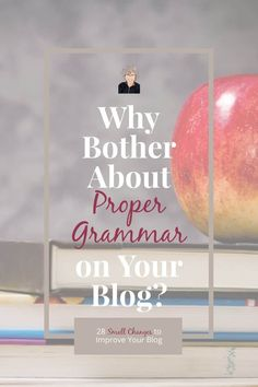 While we should always hone our writing craft, we don't need to cripple ourselves with perfection. Learn how to use two free tools to make sure your grammar leaves a good impression. Book Blogs, Why Bother, Cool Books, Blog Topics, Blog Writing, Blogging For Beginners, Make Money Blogging, Content Marketing, Grammar