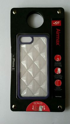 The Joy Factory Airmax - Air Cushion Case for iPhone5/5S, Clear Lavender