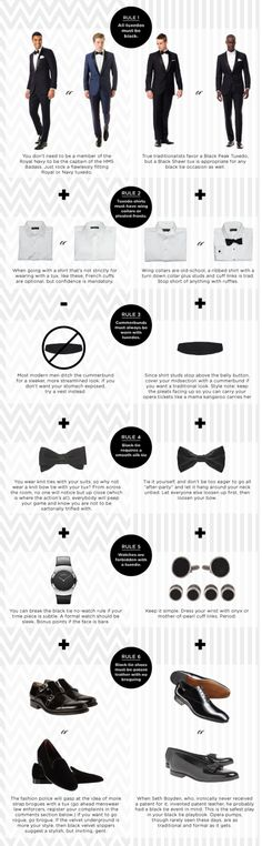 But wait! Maybe you're in the market for a tux? Consider these rules … that you should break. | 25 Life-Changing Style Charts Every Guy Needs Right Now