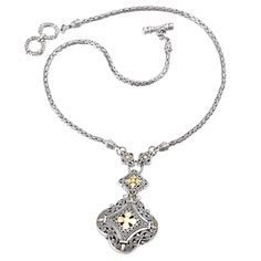 Filigree Cross Design Necklace