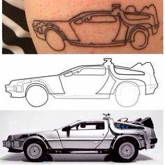 Hope you enjoyed the oneline ride Marty! Design by @quibe #bttf #bttfday #oneline #onelineart #onelinetattoo #tattoo #tatouage #Continuousline #delorean #quibe #art #artgram #artwork #instadraw #Continuousline