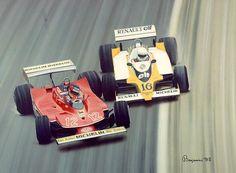 Gilles Villeneuve v Rene Anoux French GP