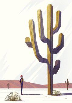Girl and Cactus by Benjamin Flouw #cactus #print #illustration #design