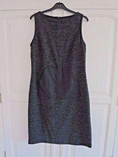 3e02cd0eb717 KOOKAI dress size M UK 12 grey tweed wool mix work hobbs  fashion  clothing