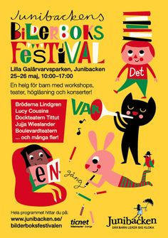 Ingela P Arrhenius - poster for the Children´s books festival at Junibacken