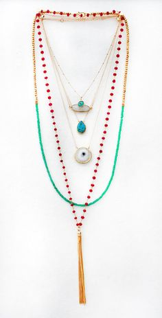 AQUA evil eye necklace by shopkei on Etsy, $32.00