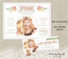 Spring Mini Session Template Marketing Board by LovelyDaysCreative