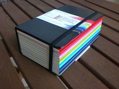 moleskine monthly planners, what a great idea.