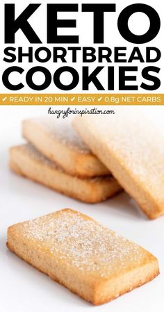 These Keto Shortbread Cookies won't last long because they're too good! Healthy … These Keto Shortbread Cookies won't last long because they're too good! Healthy & delicious Keto Christmas Cookies with only net carbs! Desserts Keto, Keto Friendly Desserts, Keto Cookies, Healthy Cookies, Low Sugar Cookies, Gluten Free Shortbread Cookies, Delicious Cookies, Low Carb Keto, Low Carb Recipes