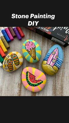Rock Painting Patterns, Rock Painting Ideas Easy, Rock Painting Designs, Paint Designs, Rock Painting Ideas For Kids, Painted Rocks Craft, Hand Painted Rocks, Painted Garden Rocks, Painted Rock Animals
