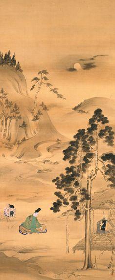 Semimaru 蝉丸図 by Tamechika Reizei, 1823-1864,