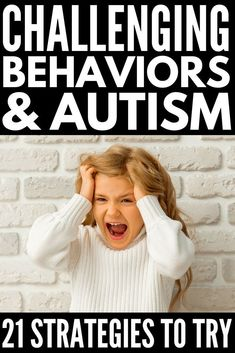 Challenging Behaviors and Autism | Looking for challenging behavior strategies to help your child with ASD and/or SPD? We're sharing our best tips to help you with things like autism and hair pulling, autism and scratching, autism and sleep, autism and picky eating, autism and aggression, and self-regulation. You don't want to miss these behavior management tips for kids with autism! #parenting #parenting101 #autism #SPD #sensoryprocessingdisorder #selfregulation