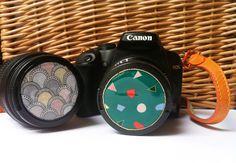 DIY Camera Lens Cap Decoration