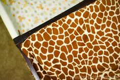 Giraffe changing pad
