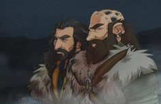 Thorin and Dwalin. The Hobbit in Twitter Search