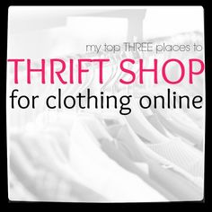 Thrift shopping online is a great way to save money on clothes. Here are my favorite three places to buy online thrift store clothes. Thrift Store Outfits, Thrift Store Shopping, Thrift Store Crafts, Online Thrift Store, Thrift Store Finds, Shopping Hacks, Online Shopping Clothes, Thrift Stores, Shop Goodwill