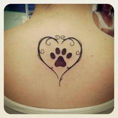 Nice In Rainbow Colors Cat Paw Tattoos, Tribal Tattoos, Body Art Tattoos, Print Tattoos, Small Tattoos, Tattoos Skull, Tatoos, Dog Memorial Tattoos, Geniale Tattoos