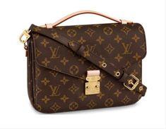Pochette Louis Vuitton, Louis Vuitton Crossbody Bag, Vuitton Bag, Louis Vuitton Handbags, Leather Crossbody Bag, Louis Vuitton Monogram, Lv Pochette Metis, Leather Purses, Crossbody Bags