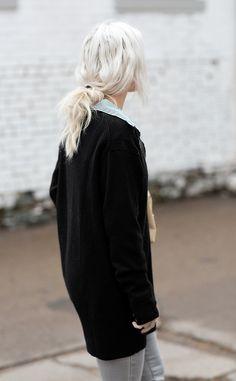 56 Ideas hair gray white platinum blonde - Hair Tips Silver Blonde, White Blonde, Platinum Blonde, White Hair, Black Hair, Black Silver, Black White, Hair Inspo, Hair Inspiration